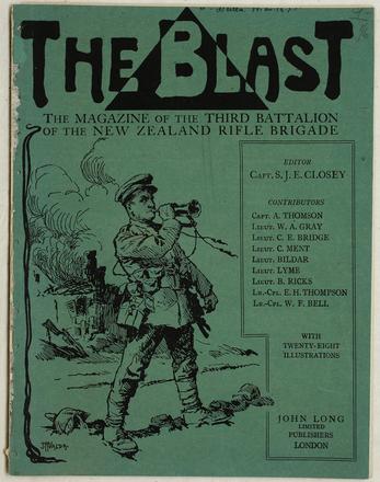 HMNZT 42. The blast : the magazine of the Third Battalion of the New Zealand Rifle Brigade. (1917). London: John Long Ltd. ; [On board ship] : [H.M.N.Z.T. No. 42, Ulimaroa]
