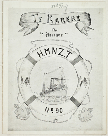 HMNZT 90. Te karere : the message : H.M.N.Z.T. no. 90. [1917].