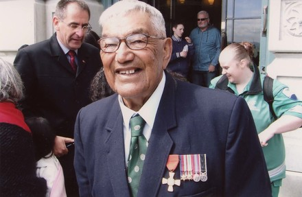 Photograph of Private Nolan Raihania 817699. Image kindly provided by Paul Baker (May 2017). Image may be subject to copyright restrictions.