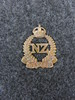 New Zealand Forces Onward collar badge, WW1 Belong...