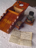 Inkwell stand with ink bottle Made by Lionel Duffy...