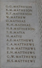 AWMM Hall of Memories G.G. Matheson to H.S. Matthews. Image has no known copyright restrictions.