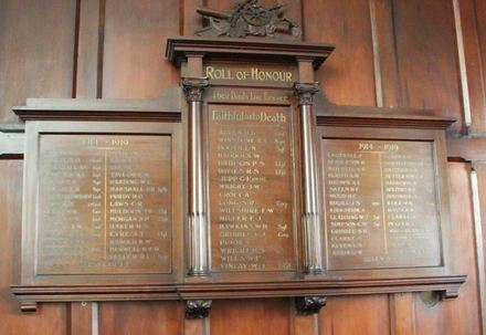 Pitt Street Methodist Church Roll of Honour, 78 Pitt Street, Auckland 1010. Image provided by John Halpin 2014, CC BY John Halpin 2014