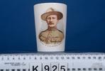 beaker, commemorative, picture of Lt Colonel Baden...