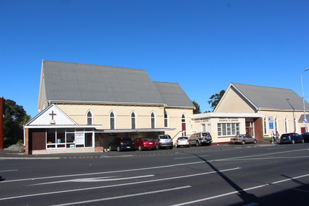 Kingsland Methodist Trinity Church exterior, 400 New North Road, Kingsland, Auckland 1021. Image provided by John Halpin 2015, CC BY John Halpin 2015