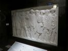 Panel plaster high relief of WWI soldiers.