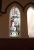 Epsom Methodist Church stained glass window. Erected by Cecil & Gertrude Moodie in memory of their sons. Image provided by John Halpin 2014, CC BY John Halpin 2015