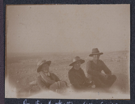 "Unknown, photographer (1915-1916). ""On the Mokattam hills, Cairo. Sis. Anderson, self and ... Sp..."". [Agnes (Peggy) Williams photograph album]. Auckland War Memorial Museum - Tāmaki Paenga Hira PH-2017-2-1-p37-3. No known copyright restrictions."