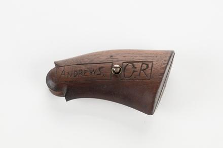 pistol butt, 2001.25.15, Photographed by Denise Baynham, digital, 14 Nov 2017, © Auckland Museum CC BY