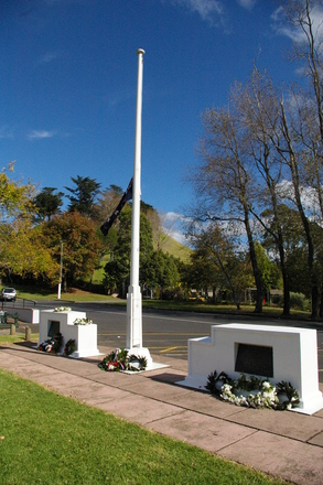 Mangere District War Memorial, 23 Domain Rd, Mangere Bridge, Auckland 2022. Image provided by John Halpin 2012, CC BY John Halpin 2012