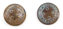NEW ZEALAND FORCES buttons (x2); belonged to 13300...