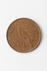one penny, 1944 bronze coin; plain edge; diameter:...