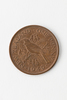 one penny, 1949 bronze coin; plain edge; diameter:...