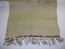 fine mat with double-sided strands, top edge locke...