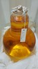 carboys, Two small clear glass carboys one with r...