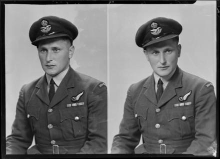 Flying Officer Ronald Charles Axten. Photograph (ref: SW1946.0211) held by Puke Ariki Museum, New Plymouth, New Zealand : pukeariki.com - Please do not reproduce without permission from Puke Ariki. Contact images@pukeariki.com for more information.