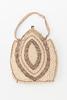 handbag beige [cotton] handbag; white and copper c...