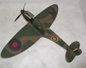 Model airplane. Spitfire. 'KLM' on tail.