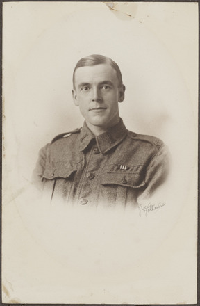 Portrait of Private Joseph Blenkinsop, Archives New Zealand, AALZ 25044 1 / F546 21. Image is subject to copyright restrictions.