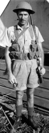 Photograph of Corporal Roy Ginn NZ426845, Fiji, 1943. Image kindly provided by Jennifer Clark (November 2018). Image has no known copyright restrictions.