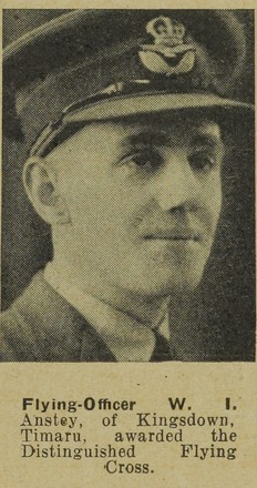 Portrait of Pilot Officer William Ian Anstey, Auckland Weekly News, 12 November 1941. Sir George Grey Special Collections, Auckland Libraries, AWNS-19411112-34-19. Image has no known copyright restrictions.