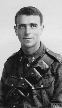 Portrait of Gunner Harold Fels. Image sourced from Imperial War Museums' 'Bond of Sacrifice' collection. ©IWM HU 121976