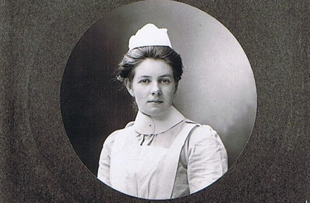Portrait of Nurse Lily Lind. Image kindly provided by Myles Lind (January 2019). Image has no known copyright restrictions.