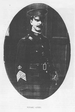 Photograph of Staff Sergeant Major Alfred Collins, 66685. Image kindly provided by Own Wallbutton (January 2019). Image has no known copyright restictions.