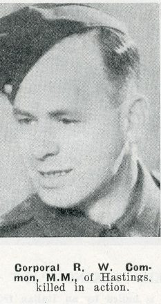 Portrait of Corporal Raymond William Common, Auckland Weekly News, 11 February 1942. Auckland Libraries Heritage Collections AWNS-19420211-24-46. Image has no known copyright restrictions.