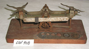 set of metal scales from Horsley's Pharmacy, Queen...