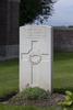 Headstone of Gunner Allan Gerald Arrow (42913). Divisional Cemetery, Ieper, West-Vlaanderen, Belgium. New Zealand War Graves Trust (BEAZ1074). CC BY-NC-ND 4.0.
