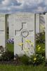 Headstone of Lance Corporal George Arthur Brown (27209). Wulverghem-Lindenhoek Road Military Cemetery, Heuvelland, West-Vlaanderen, Belgium. New Zealand War Graves Trust (BEEW8601). CC BY-NC-ND 4.0.
