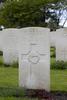 Headstone of Flight Sergeant James Douglas Follett (41319). Heverlee War Cemetery, Leuven, Vlaams-Brabant, Belgium. New Zealand War Graves Trust (BEBR8290). CC BY-NC-ND 4.0.