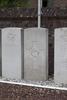 Headstone of Flight Sergeant Douglas Joseph Ashby-Peckham (404092). Langdorp Churchyard, Aarschot, Vlaams-Brabant, Belgium. New Zealand War Graves Trust (BECG9636). CC BY-NC-ND 4.0.
