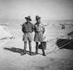 Photograph of James (Jim) Slaven and Alexander (Alec) Duthie Alexander 17006, possibly at Maadi Camp, c.Second World War. From the collection of Arthur William (Moss) Squire 16770, 23 Battalion. Image kindly provided by Roger Sommerville (August 2019). Image may be subject to copyright copyright restrictions.