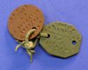 WW1 identity tags for 12/1841 WJ Woodward, CE, 1st...