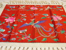 tablecloth, square scarlet silk cloth embroidered ...
