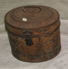 hat box : metal tin with hinged lid; marked 'Willi...