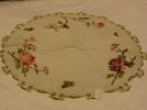tray cloth, circular fine linen tray cloth with em...