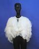 cape, white ostrich feather.