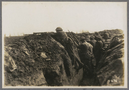 N.Z. troops in the front line on the Somme, La Synge Farm, France