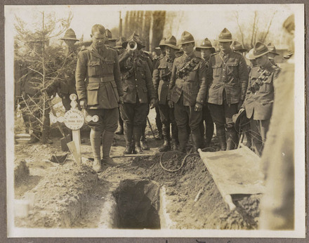 Funeral of a New Zealand soldier.