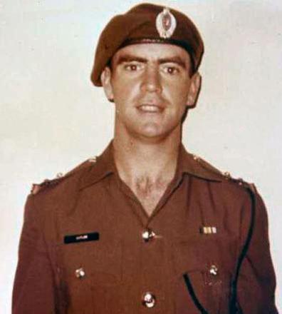 Jim Cutler 1970. (note no South Vietnamese Campaign Medal) Jim replaced Bill Blair as 1 Platoon Commander, Whisky 3 Company, 2 RAR/NZ(ANZAC)Bn.