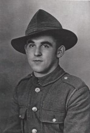 Pte Cecil Albert Clarence (Max) Pierce, aged 19, taken before leaving on active service with the NZ 21st Battalion, 1939.