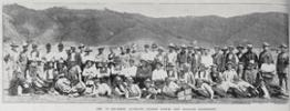 the 'B' squadron, the Auckland section of the 8th New Zealand Contingent at military camp at Trentham, Hutt Valley, Wellington - No known copyright restrictions.