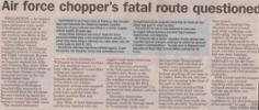Air force chopper's fatal route - No known copyright restrictions.