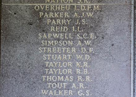Kenneth's name is inscribed inside Runnymede Memorial.