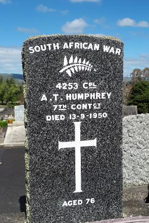 Headstone shortly after repainting.