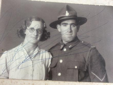 My grandmother Alma and grandfather George last name spelt Jefferies