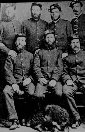Sgt John Davies top left his son in law NF MacDonald standing  next to John Davies
